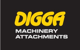 Digga Excavator attachments, augers and auger drives
